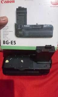 Batre grip canon BG E5 buat canon 450D/500D/1000D
