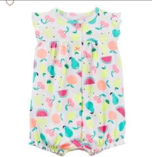 🚚 *3M* BN Carter's Snap Up Cotton Romper For Baby Girl #CarouPay
