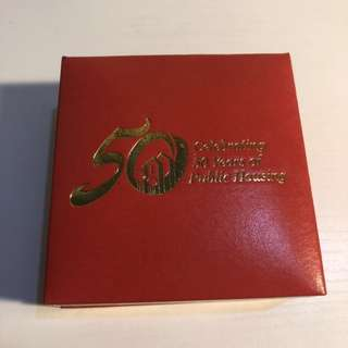 Singapore celebrating 50 years of public housing 2010 silver proof coin