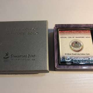 Singapore 2010 Youth Olympic Game silver color proof coin