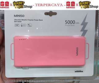 Japan Quality - Ultra Thin Power Bank 5000Mah Miniso