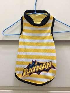 貴賓衣服 小型犬 寵物衣服 蝙蝠俠挖背背心