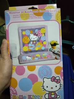 Hello Kitty Monitor and Keyboard Cover