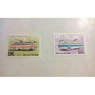 1977年朝鮮電車郵票