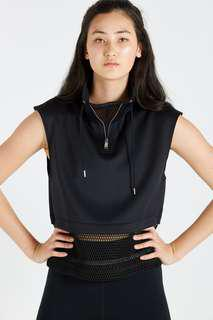 🚚 Cotton On Black Luxe Tunnel Cropped Vest