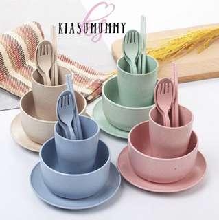 Wheat Straw Tableware Cutlery Set