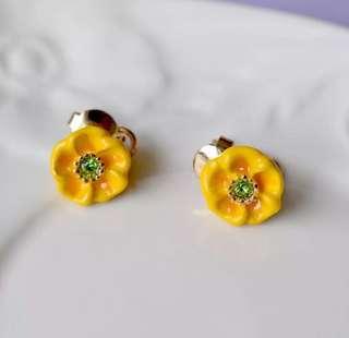 法國品牌出口外貿Nereides小黃花耳環