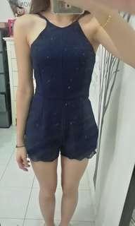 Lace jumpsuit dark blue