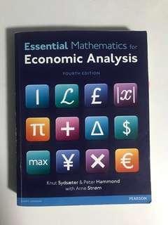Sydsaeter, Hammond, Strom: Essential Mathematics for Economic Analysis 4th Edition