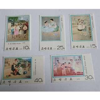 1976年朝鮮繪畫作品郵票