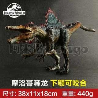 阿米格Amigo│ 新款 摩洛哥棘龍 恐龍 dinosaur 仿真模型 侏羅紀世界 Jurassic 禮物 贈品 擺飾 男孩最愛 廠家直銷