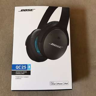 Bose QuietComfort 25 QC25 Headband Headphones - Black - Brand New