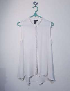 Loose white top H&M - putih
