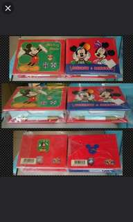 迪士尼 米奇老鼠  便條紙連硬皮盒連原筆兩盒