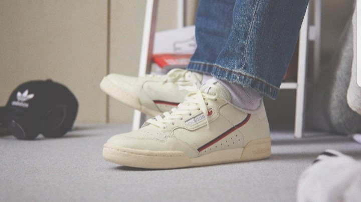 purchase cheap db75e ba243 Adidas Continental 80 UK7 - Tint, Off-White, Scarlet, Men s Fashion,  Footwear, Sneakers on Carousell