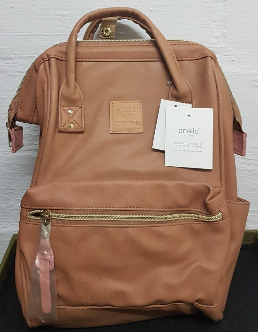 Anello Faux Leather Hinged Clasp Mini Backpack, Luxury, Bags ... ca8dd26035