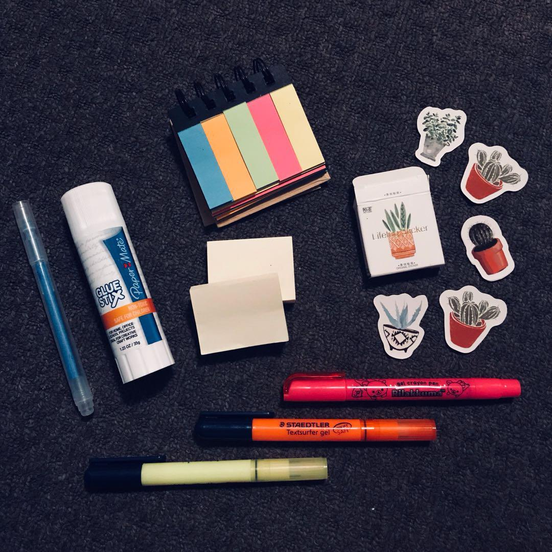 Assorted Stationery / Scrapbooking Items