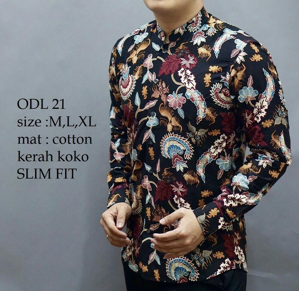Batik Slimfit Mens Fashion Clothes Tops On Carousell Koko Grey M
