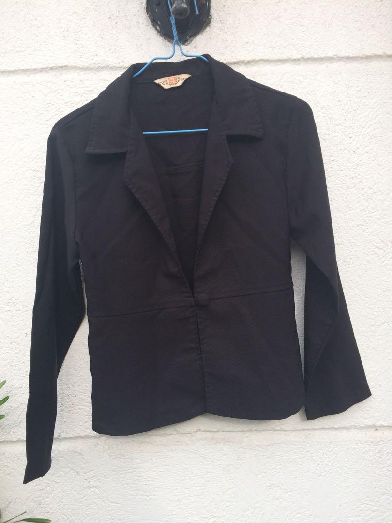 black office blazer corporate attire women s fashion clothes on