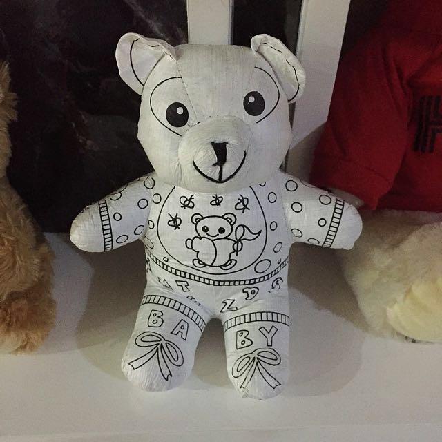 Boneka Beruang Kecil Bisa Diwarnai Babies Kids Toys Walkers Carousell