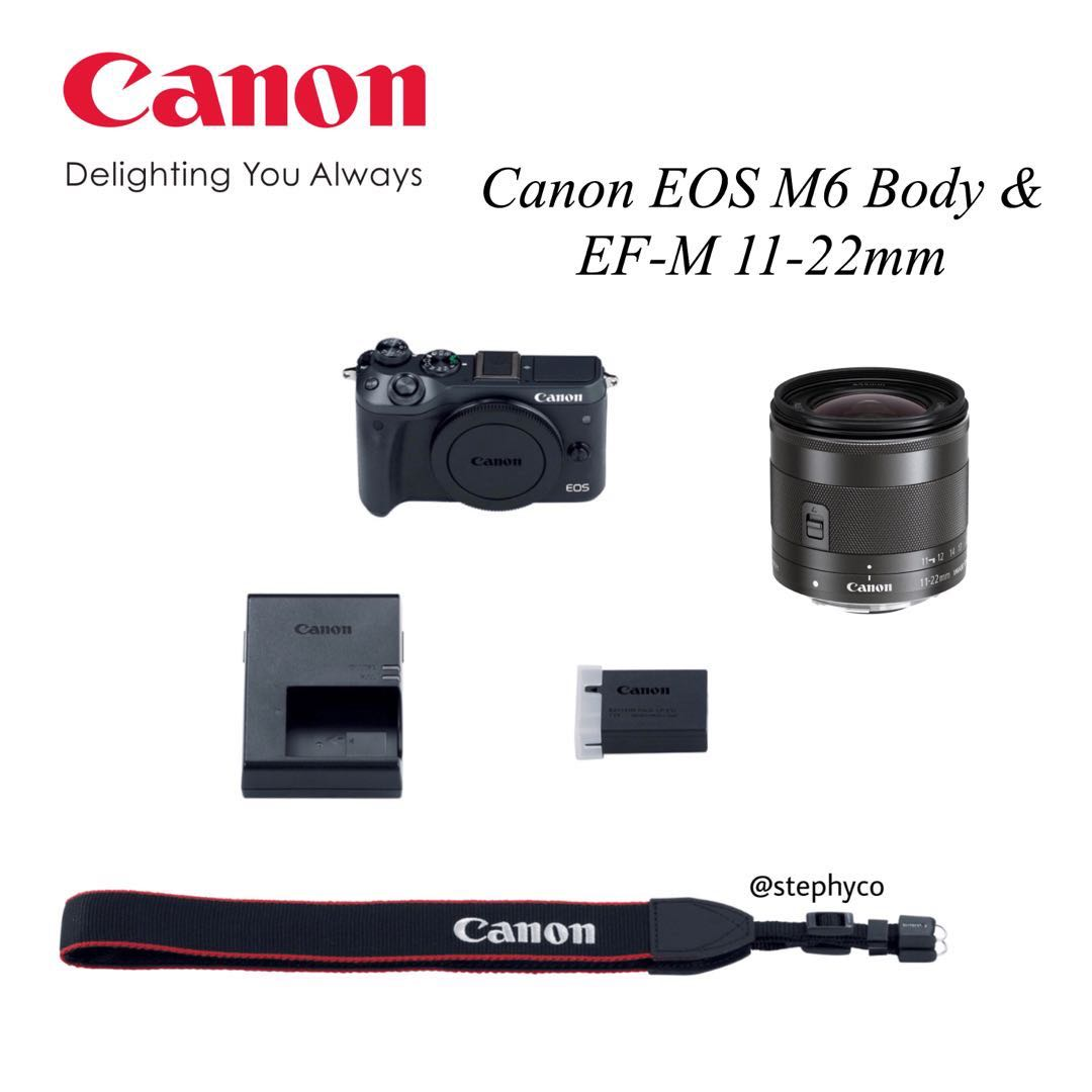Canon Eos M6 Body Ef M 11 22mm F4 56 Lens Photography Cameras M10 Kit 15 45 Photo