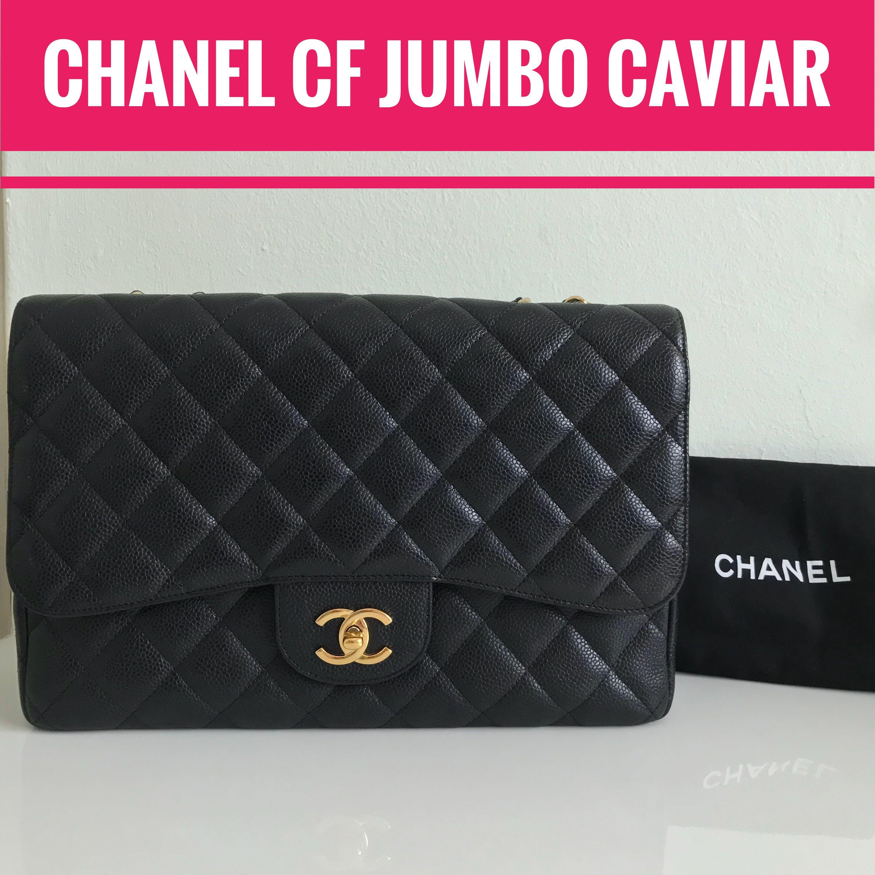 8f28ff405ccd2d CHANEL CF Jumbo (30cm) Caviar with GHW, Single Flap, Luxury, Bags ...