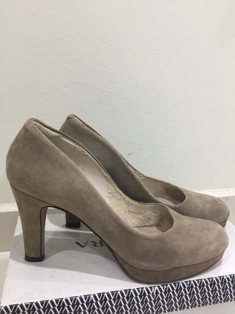 fa1913527ce Clarks Shoes Crisp Kendra Taupe Suede