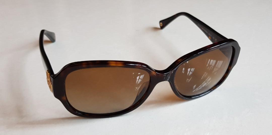 1758d7859eac Coach HC 8015A Allie Dark Tortoise Polarized Sunglasses, Women's ...