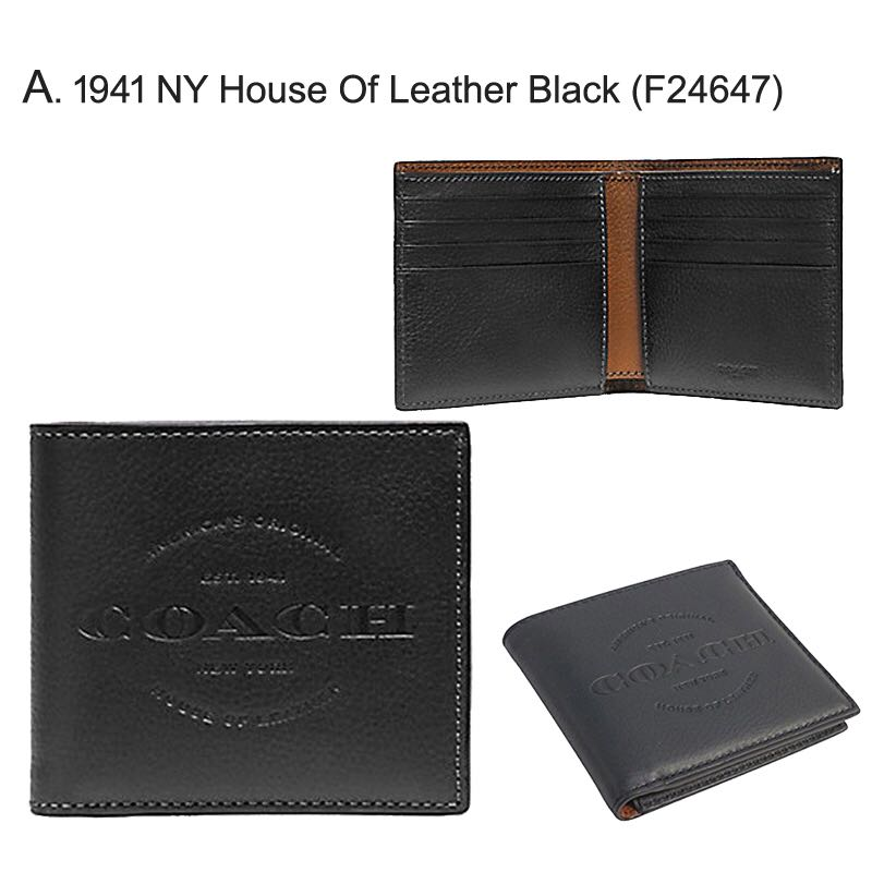 5fe3cc026fe75 ... low price coach mens leather double billfold wallet mens fashion bags wallets  wallets on carousell 90cd4
