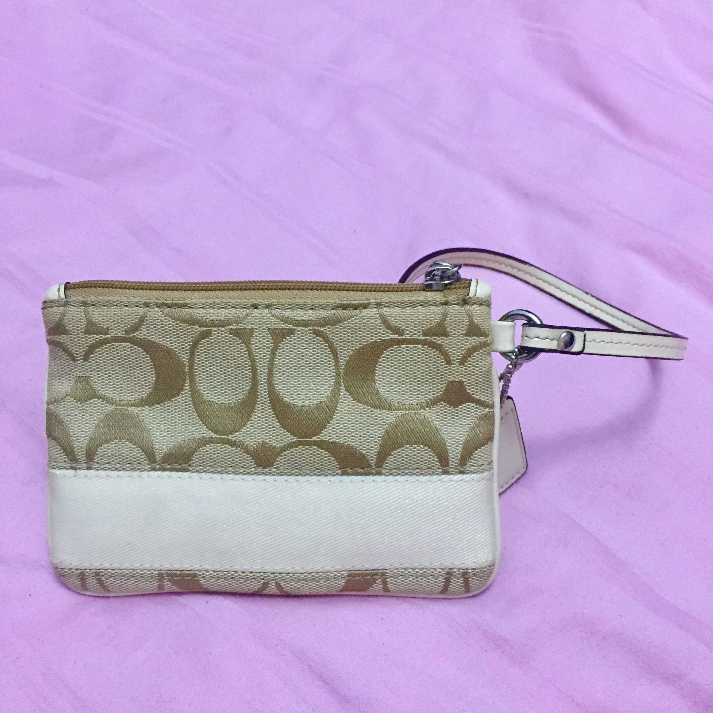 f7e625f911 Coach Signature Stripe Small Wristlet