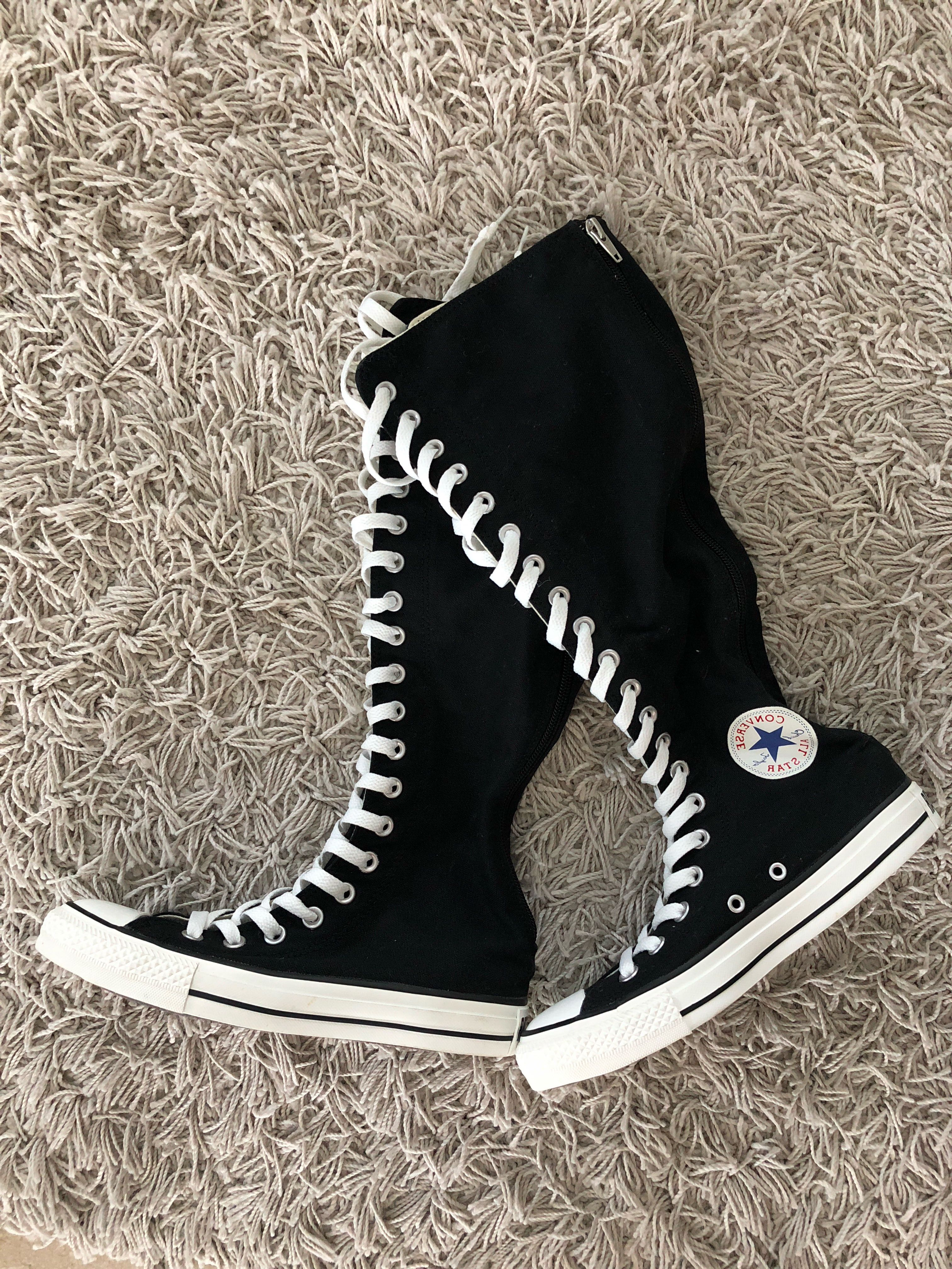 Converse Knee High Lace Up Shoes, Women
