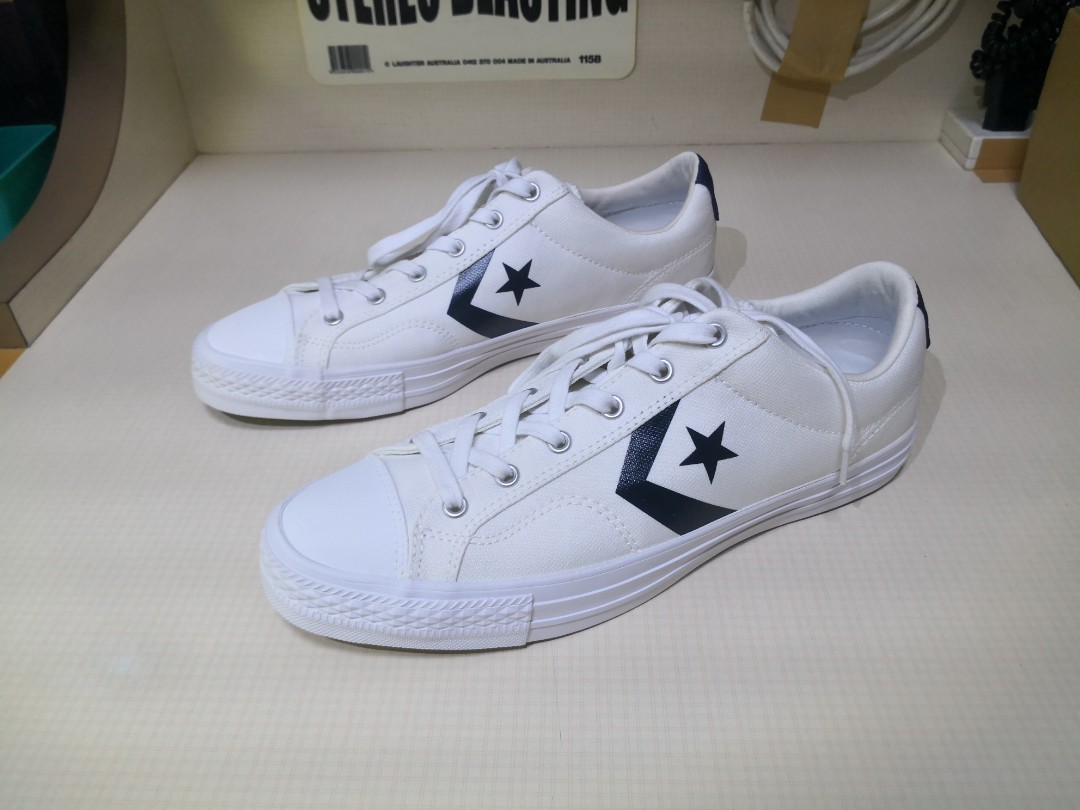 769da9492685 Converse Star Player Ox White Athletic Navy White UK10