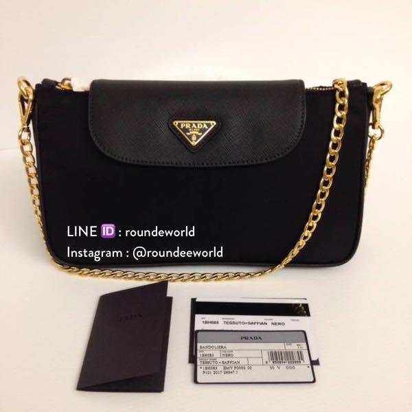 67731b81144879 HARI RAYA SALE 🎉 Prada Tessuto Nylon Clutch Sling 1BH085 - Black, Luxury,  Bags & Wallets, Sling Bags on Carousell