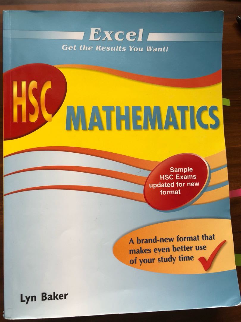 hsc maths excel textbooks on carousell