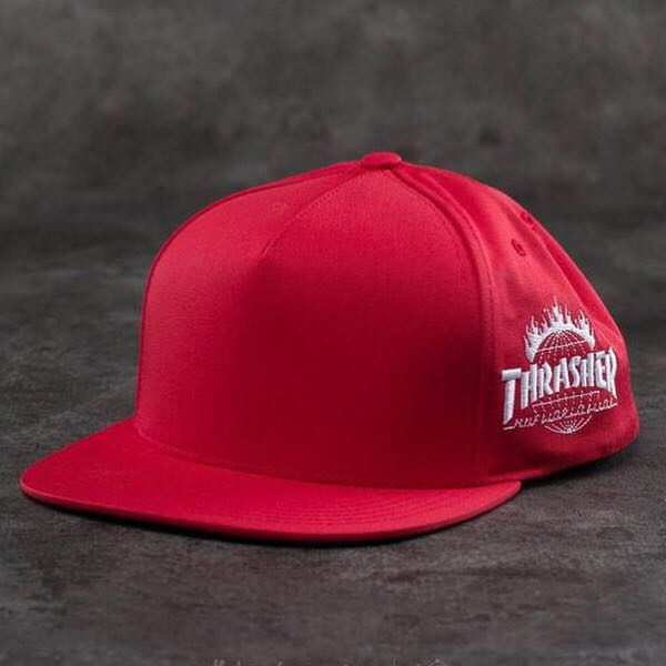 70229168c3a14 Instock Thrasher X Huf Worldwide Snapback (Red)
