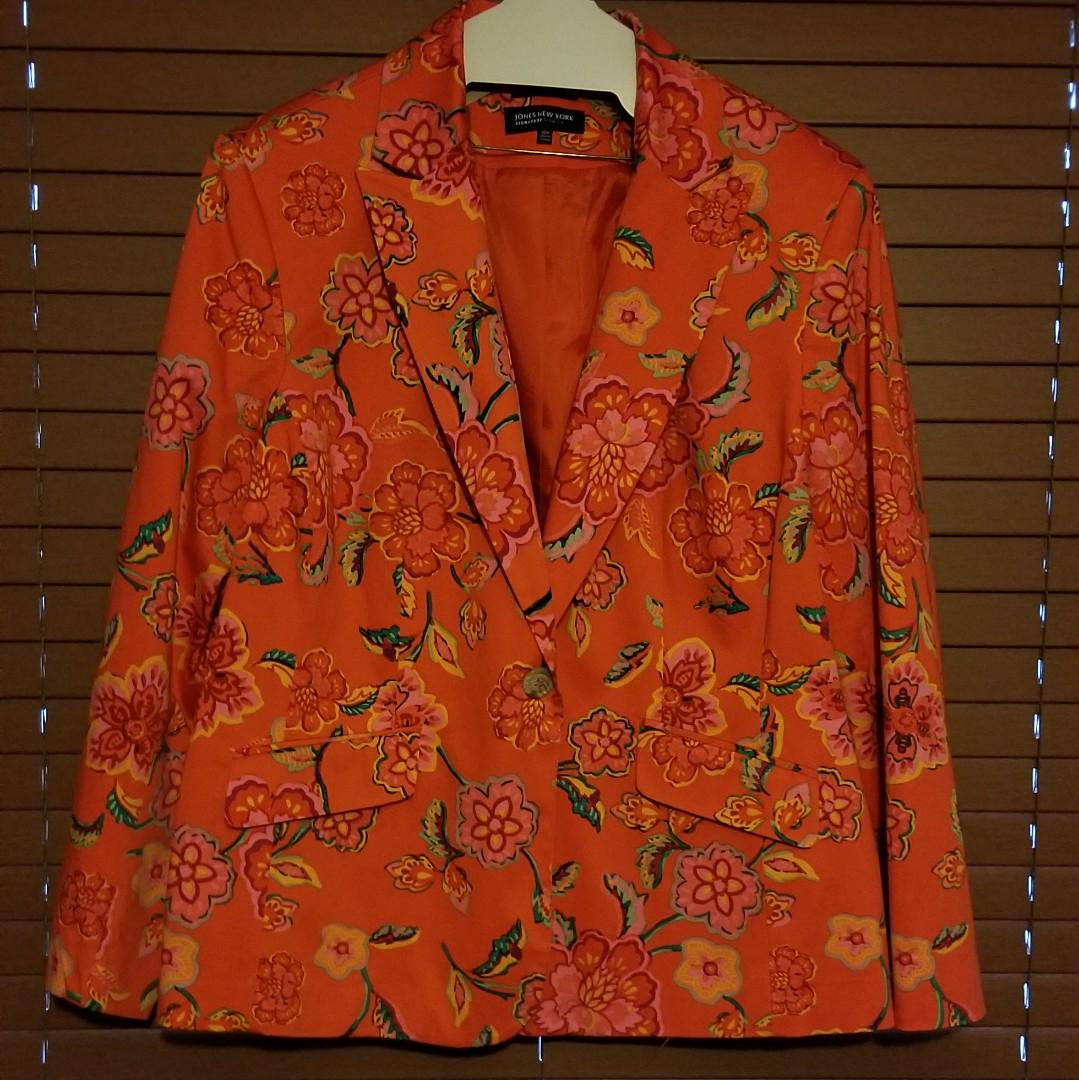 Jones New York Floral Blazer