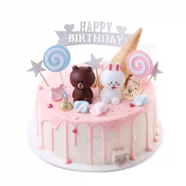 Fabulous Line Friend Birthday Cake Topper Design Craft Others On Carousell Funny Birthday Cards Online Alyptdamsfinfo