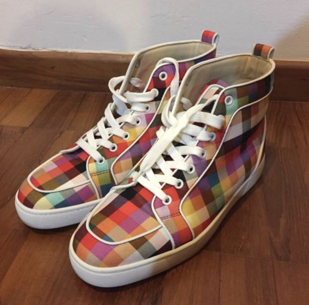 new products bc6ef 1a787 Louboutin sneakers multicolor