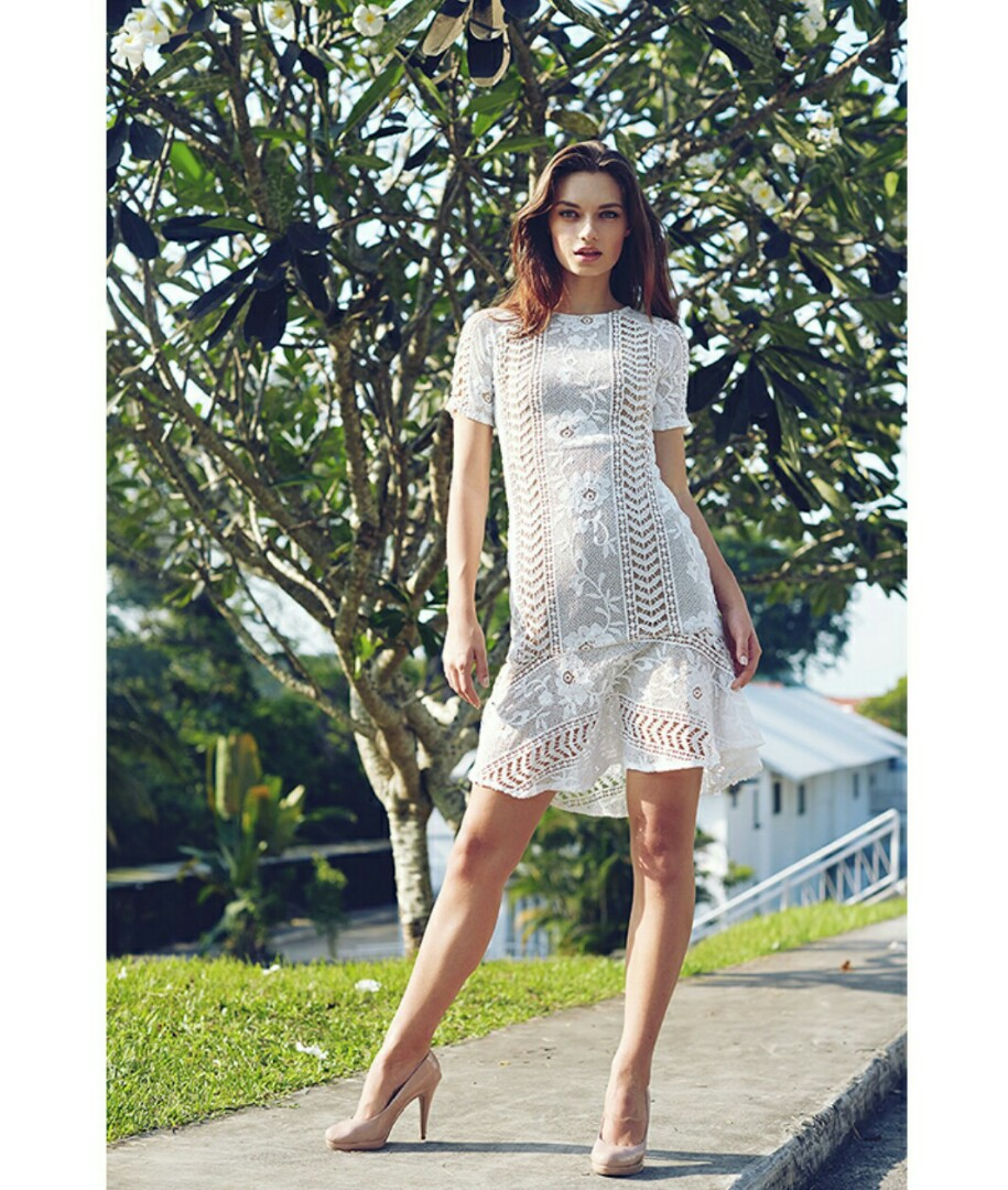 340955b28ef0 Lovengold The Crochet Lace Dress, Women's Fashion, Clothes, Dresses ...