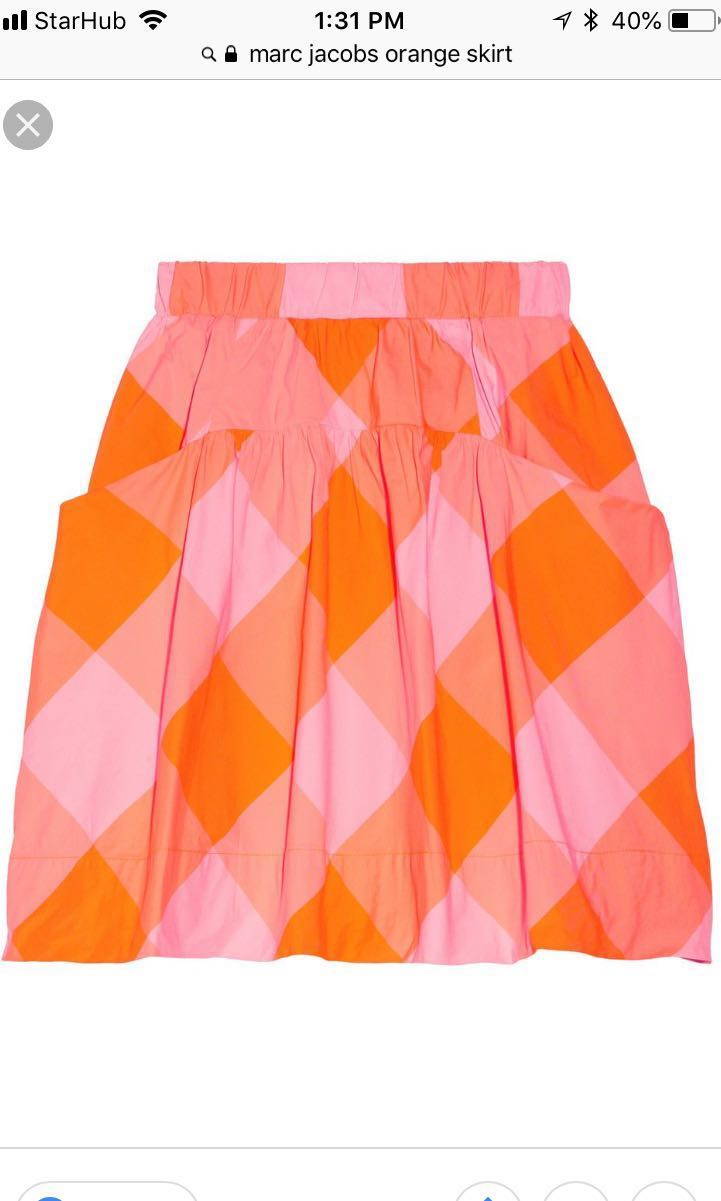 5d6ec02f6 Marc by Marc Jacobs Neon Checkered skirt, Women's Fashion, Clothes ...