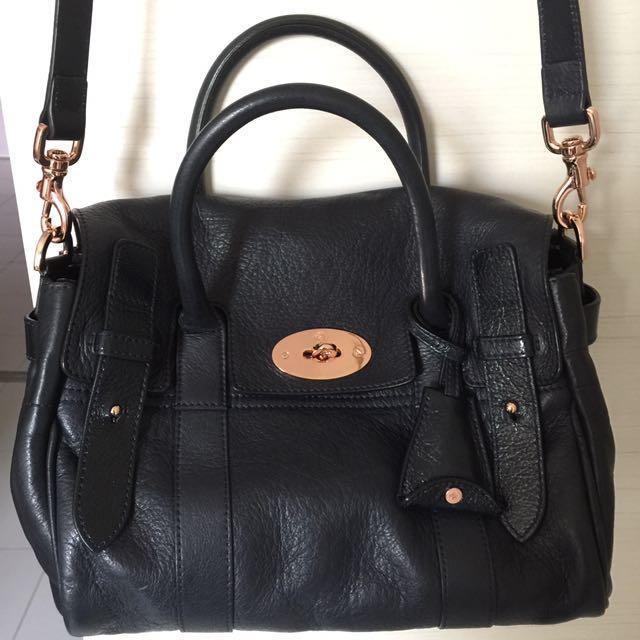 be9291a305 Mulberry Small Heritage Bayswater in Nightshade Blue and Rose Gold ...