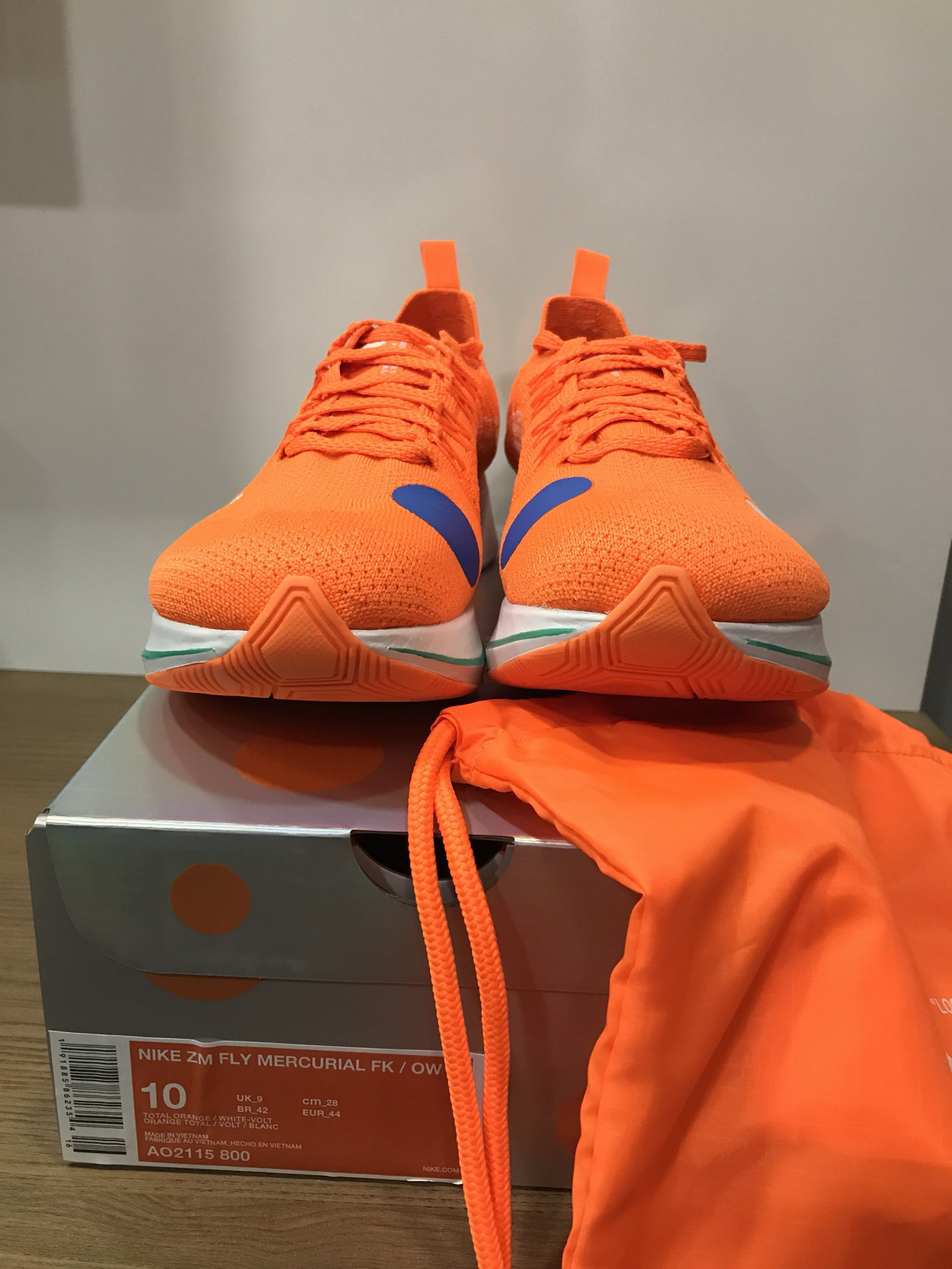 d5e1e9667148b Off White x Nike Zoom Mercurial Orange  UK 9   US 10