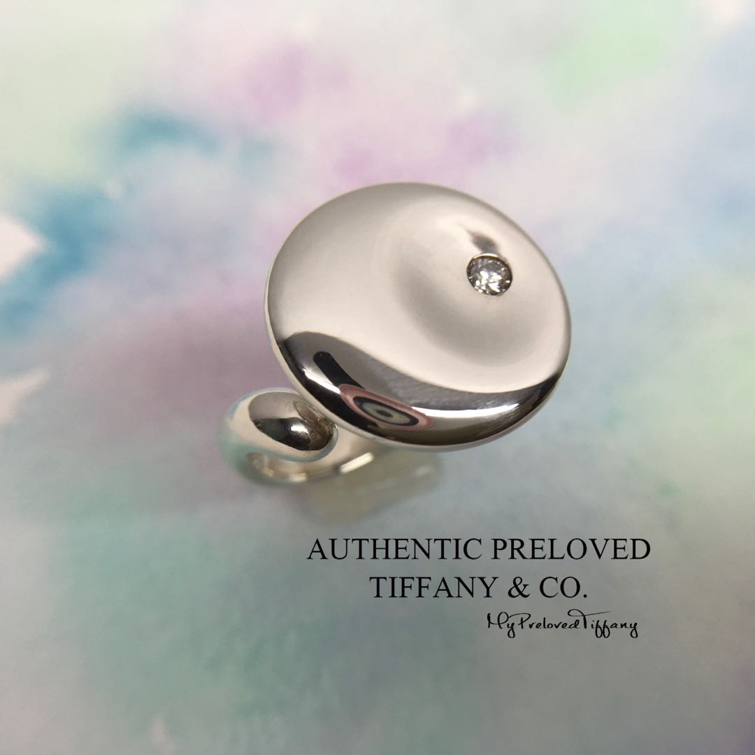 7cc1effebcc09 RARE Excellent Authentic Tiffany & Co Elsa Peretti Round Disc Silver ...