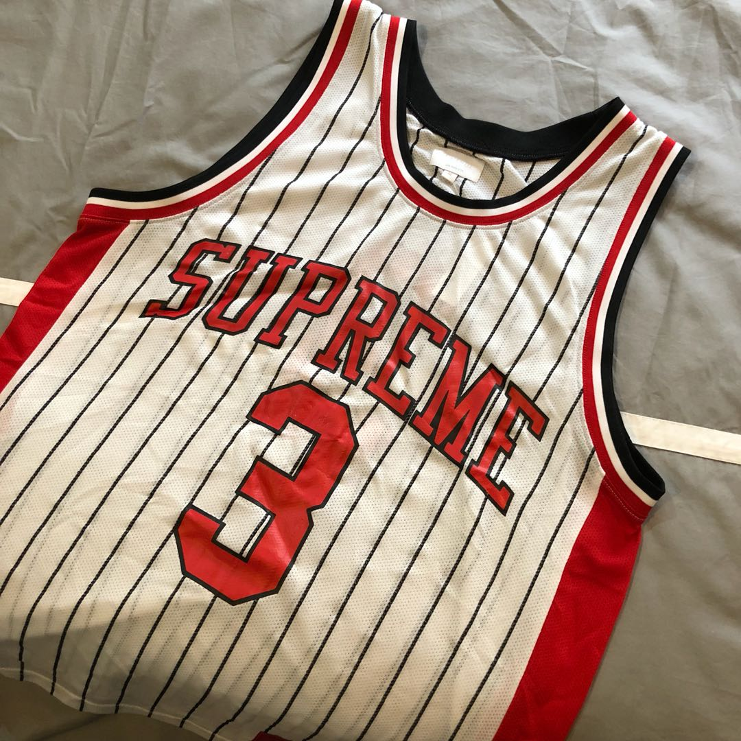 5bd7d5f12bb Supreme Basketball Jersey, Men's Fashion, Clothes, Tops on Carousell