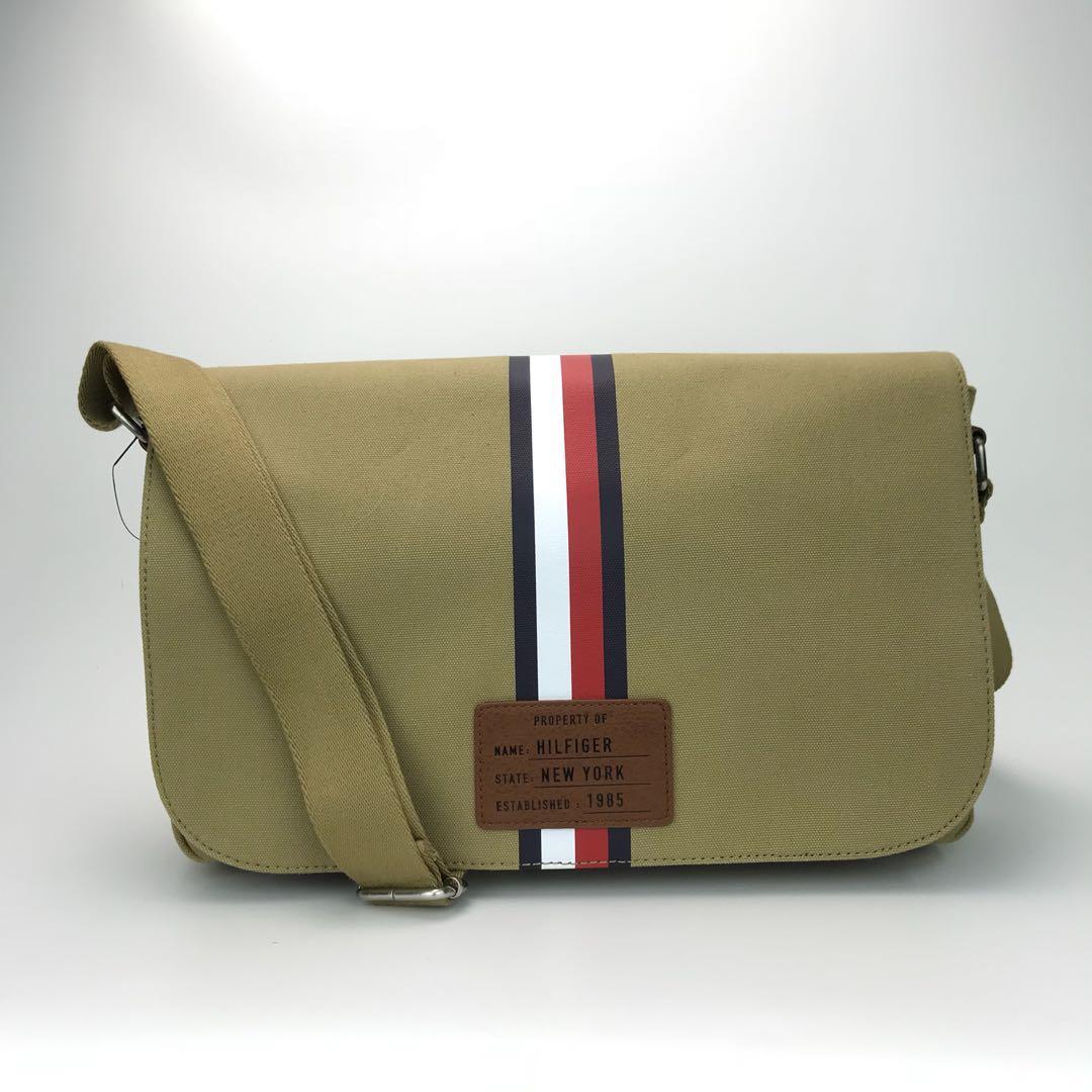 c9b0699f30 Tommy Hilfiger Canvas messenger bag khaki, Men's Fashion, Bags ...