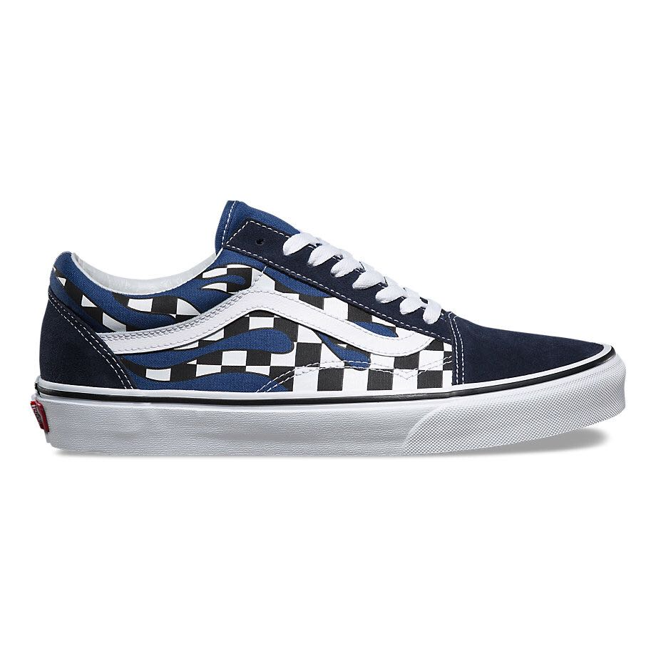 5425a76b9379 Vans Checker Flame Old Skool