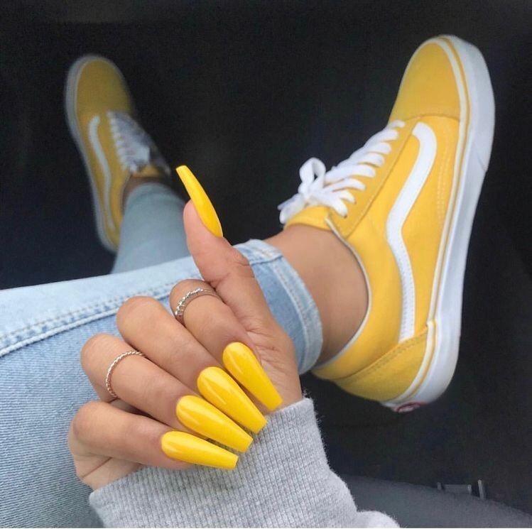 Vans mustard old skool, Women's Fashion
