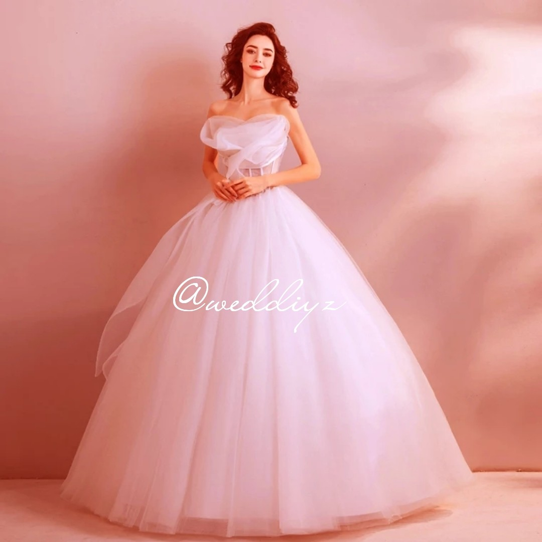 Wedding Gown Ball Gown Princess Gown Simple Classy Wedding Womens