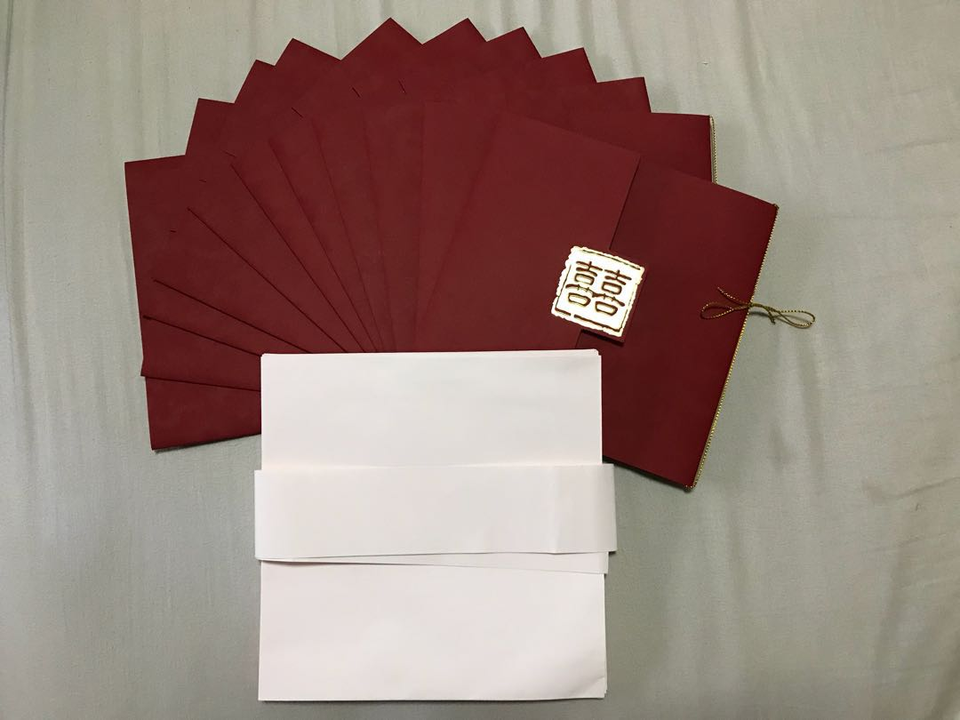 Wedding Invite Cards and Envelopes, Everything Else on Carousell
