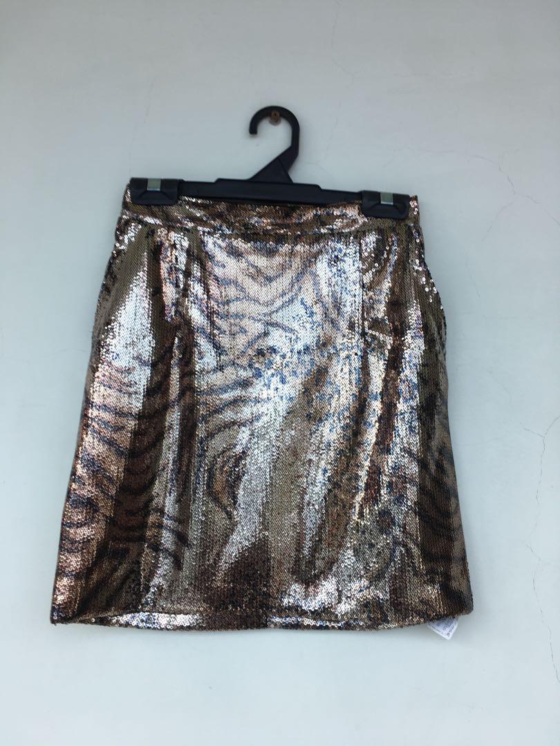9b9fa1f9b ZARA Sequin Skirt, Women's Fashion, Clothes, Dresses & Skirts on ...